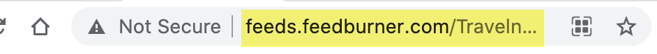 Copy the feed url